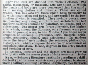 Definition of Art Webster's International Dictionary 1893