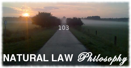 natural law philosophy 103