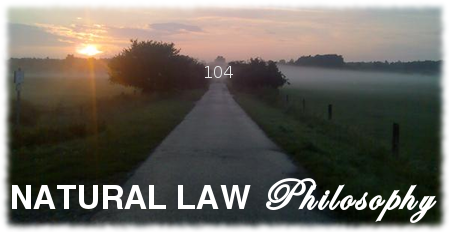 natural law philosophy 104